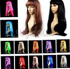 Women Long Straight Wig Anime Cosplay Fancy Dress Costume Party Hair Full Wigs
