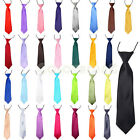Boys/Kids/Childrens Satin Tie NeckTie Elastic Wedding Prom Party School Gifts