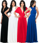 NEW Bridesmaid Convertible Wrap Plus Size Cocktail Maxi Dress XS S M L XL 2X