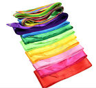 HOT!! Gymnastic Dance Ribbon Rhythmic Streamer Twirling Stick 10Colors 4M JR#em-