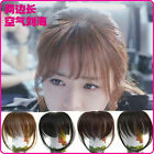 2015 New Women Girl's Straight Thin Fringe Bangs Hair Extension With Clip Hair