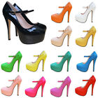 WOMENS PLATFORMS STILETTOS HIGH HEELS PUMPS COURTS SHOES WORK PARTY WEDDING WORK