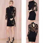 Casual Women Sexy Lace Wrap Bodycon Slim Evening Party Cocktail Dress