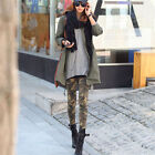Women Camouflage Skinny Jeggings Stretch Slim Leggings Pencil Pants Trousers