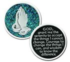 Sparkle Serenity Prayer 2 Sided Pocket Coin with Poem Silver Color MM2803-3