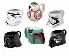 Official STAR WARS - 3D MUG (Ceramic) Stormtrooper/Kylo Ren Head (Gift/Collect)