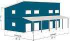 Steel Home, Lake, Mountain Cabin Shell Kit Contemporary, Single Slope Roof.