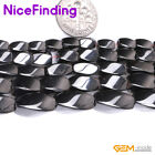 Natural Black Magnetic Hematite Loose Beads For Jewelry Making Twist Gemstone