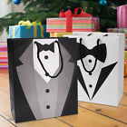 Black Tuxedo Gift Bags Paper Party Loot Treat Gift Bags 2 Colours Available