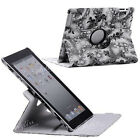 1x New 360° Rotating Rose Pattern PU Leather Case Cover Skin Stand for iPad 2 3