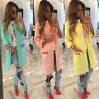 Womens Slim Coat Winter New Ladies Casual Long Jackets Warm Outwear TOP Cardigan