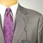 48L STEVE HARVEY  Grey Plaid SUIT SEPARATE  48 Long Mens Suits - SS30