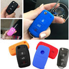 FIT FOR SKODA FABIA OCTAVIA SUPERB SEAT LEON IBIZA SILICONE KEY COVER CASE FOB