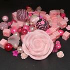 Mixed Bead - Bead Soup - Pink - Glass, Lucite, Acrylic, Polymer