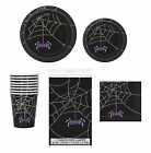 Black Spider Web HALLOWEEN PARTY TABLEWARE RANGE {Unique}