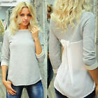 Fashion Womens Autumn Patchwork Long Sleeve T-Shirt Blouse Top Tee