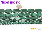 Wholesale lot Oval Natural Malachite Stone Beads For Jewelry Making Gemstone 15""