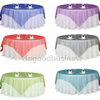 """72*72"""" Sheer Organza Tablecloth Square Wedding Table Cover Cloth Banquet Party D"""