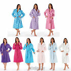Womens/Ladies Polar Fleece Dressing Gown/Bath Robe/Wrap Size 10 12 14 16 18 20