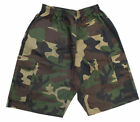 7 oz Green Camo Middleweight Cargo Shorts with Black Stripes by Bold