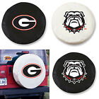 Georgia Bulldogs Exact Fit Size Black or White Vinyl Spare Tire Cover by HBS