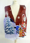 RED SANTA SLEIGH 2 DESIGN WACKY WAISTCOAT FUN & FANCY L&S PRINTS