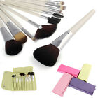 New SCD Makeup Brush Set 12 Piece Natural Brush With Pouch Cosmetic Brushes