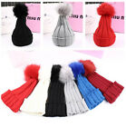 Girls Toddler Kids Ball Bonnet Winter Hat Boys Cap Baby Beanie Hair Accessories