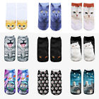 3D Print Animal Women Socks Cartoon Socks Cute Unisex Low Cut Ankle Socks AU23
