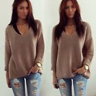 Women's Long Sleeve Knitwear Jumper Cardigan Coat Jacket Pullover Sweater New