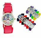 Reflex Girls Boys childrens Velcro Fabric Strap Watch christmas Gift For Kids
