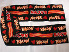 Bacon Lovers!  I Love Bacon Fleece Scarf Fringed Or Not