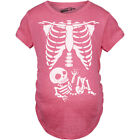 Maternity Skeleton Baby T Shirt Halloween Costume Funny Pregnancy Tee For