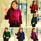 Great 100% Real Farm Genuine Raccoon Fur Short Coat Jacket Outwear Garment Women