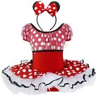 Xmas Girls Kid Minnie Mouse Party Costume Ballet Polka Dots Tutu Dress Size 1-10