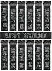 BLACK/SILVER GLITZ - PRISMATIC 9 FOOT BANNER (Birthday Party Decorations)