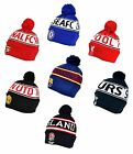 Official Football Club - KNITTED HAT (Text Cuff) Ski/Beanie (Gift/Clothing)