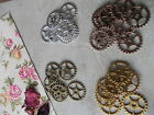 10 or 20 pack of Steampunk cogs gears,silver,bronze,gold,copper,clock making