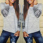 Fashion Women Sexy Loose Long Sleeve Tops Blouse Pullover Ladies T Shirt  Jumper
