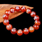 wholesale  Handmade Natural 8/10/12/14mm red Agate Round Gems Beads Bracelet