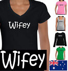 Funny T-Shirts Singlets WIFEY WIFE Ladies Women's BRIDE Present all sizes HEN'S