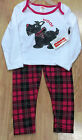 Fisher Price Girl's Scottie Dog 2 Piece Outfit with Built in Tutu New with Tags