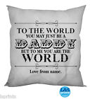 "PERSONALISED DADDY CUSHION COTTON FEEL CUSHION 18"" GIFT"