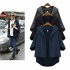 Fashion Casual Women Loose Coat Jacket Trench Windbreaker Parka Outwear Cardigan