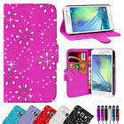 LEATHER WALLET FLIP CASE COVER FOR SAMSUNG GALAXY A5 FREE SCREEN PROTECTOR