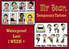 MR BEAN inspired film cartoon temporary X10  TATTOOS waterproof  LAST1 WEEK+