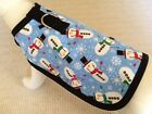 Flannel Winter Holiday Blue Snowman Dog Harness Clothes Coat