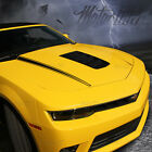 2014 2015 Chevy Camaro Hood Cowl Side Spears Accent Stripes Decals Blackout