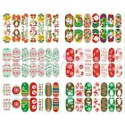 Christmas Nail Art Transfer Stickers 3D Design Manicure Tips Glitter Snowman