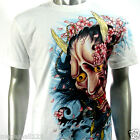 RC Survivor T-Shirt  Sz S M L XL XXL Oni Mask Tattoo Japanese Sakura Rock WB8